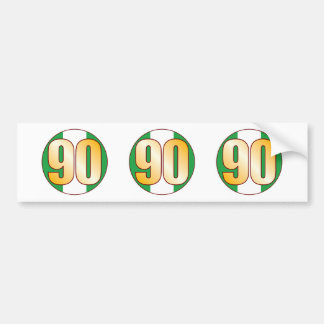 90 NIGERIA Gold Bumper Sticker