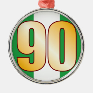 90 NIGERIA Gold Christmas Ornament