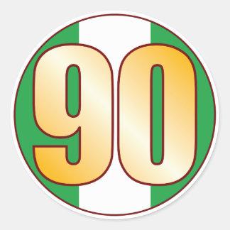 90 NIGERIA Gold Classic Round Sticker