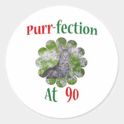 90 Purr-fection Round Sticker