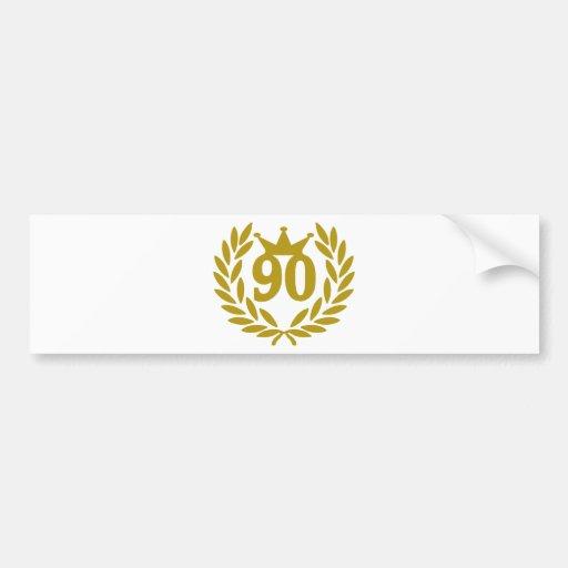 90-real-laurel-crown bumper sticker