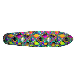 90 s Rainbow Tile Art Skate Board Decks