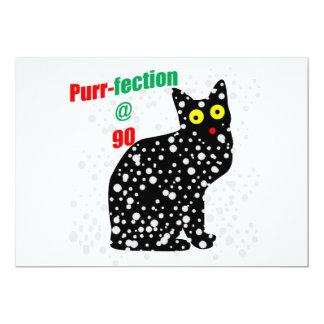 90 Snow Cat Purr-fection 13 Cm X 18 Cm Invitation Card