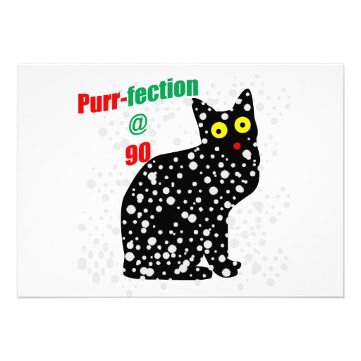 90 Snow Cat Purr-fection Custom Invitation