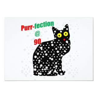 90 Snow Cat Purr-fection Custom Invitation