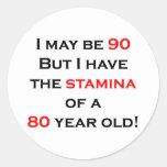 90 stamina round sticker