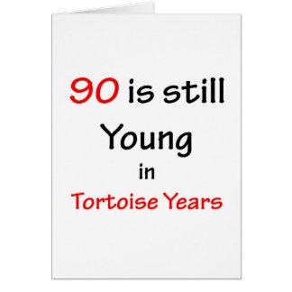 90 Tortoise Years Greeting Card