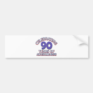 90 year gift designs bumper stickers