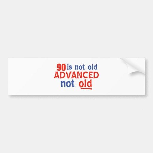 90 year old birthday designs bumper sticker