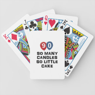90 year old candle designs bicycle playing cards