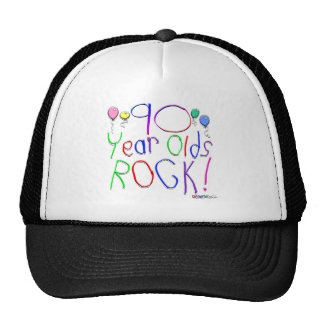 90 Year Olds Rock! Hat
