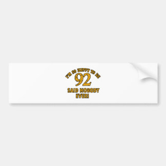 90 years design bumper sticker