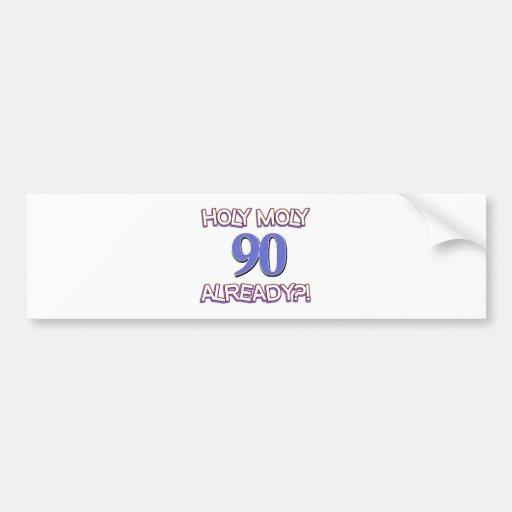 90 years design bumper stickers