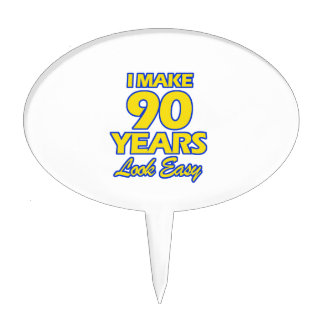 90 YEARS OLD BIRTHDAY DESIGNS CAKE TOPPERS