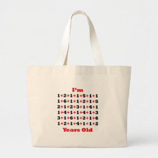90 Years old! Blk Red Large Tote Bag