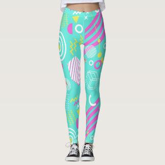 90s geometric pattern leggings