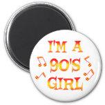 90s Girl 6 Cm Round Magnet