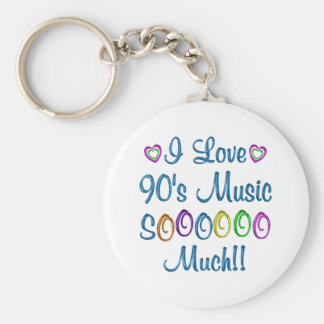 90s Love So Much Keychain