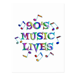 90s Music Lives Postcard