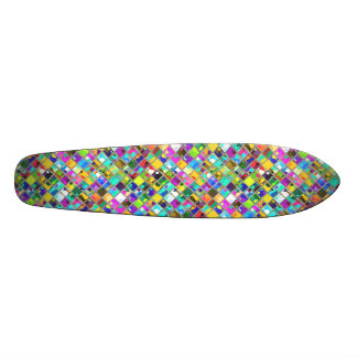 90's Original Mosaic Tile Art 21.3 Cm Mini Skateboard Deck