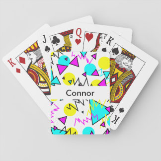 90's pattern playing cards