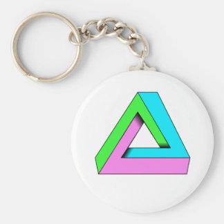 90s pop art design basic round button key ring