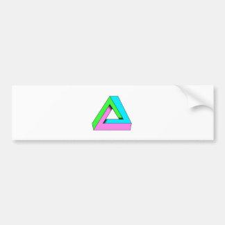 90s pop art design bumper sticker