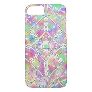 90s tribal pattern multi color colorful bright iPhone 8/7 case