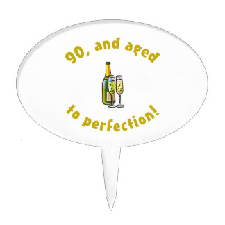 90th Birthday Aged To Perfection Cake Toppers