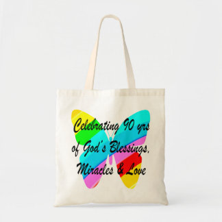 90TH BIRTHDAY BLESSING BUDGET TOTE BAG