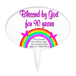 90TH BIRTHDAY BLESSING CAKE PICK