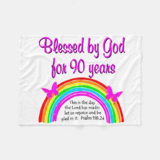 90TH BIRTHDAY BLESSING FLEECE BLANKET