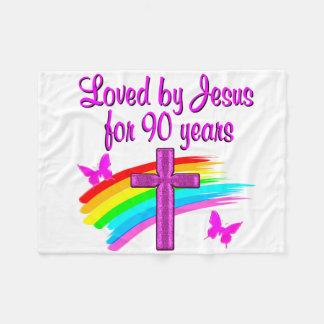 90TH BIRTHDAY BLESSINGS FLEECE BLANKET