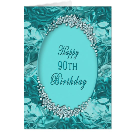 90th BIRTHDAY - BLUE ICE - GREETING -