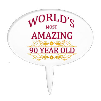 90th. Birthday Cake Toppers