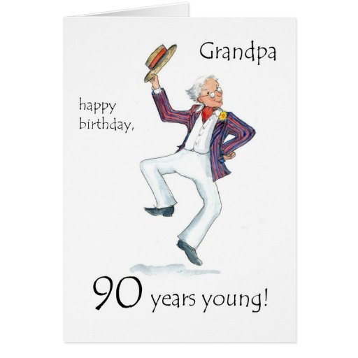 90th Birthday Card for a Grandfather