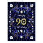 90th birthday card with masses of jewels