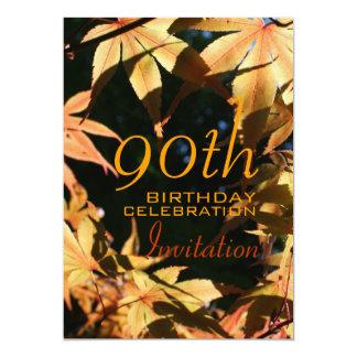 90th Birthday Celebration Autumn Custom Invitation