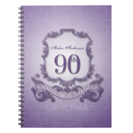 90th Birthday Celebration Custom Framed Guest Book
