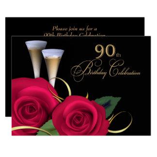 90th Birthday Celebration Custom Invitations