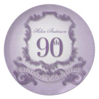 90th Birthday Celebration Personalized Plate