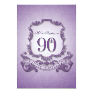 90th Birthday Celebration Vintage Frame -2- Card