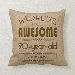 90th Birthday Celebration World Best Fabulous Cushion