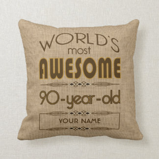 90th Birthday Celebration World Best Fabulous Cushion