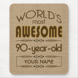 90th Birthday Celebration World Best Fabulous Mouse Mat