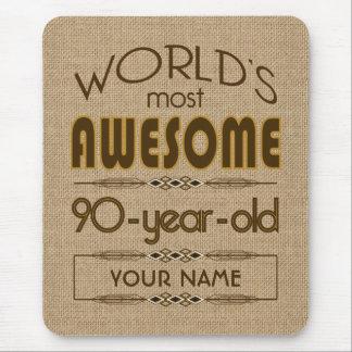90th Birthday Celebration World Best Fabulous Mouse Pad