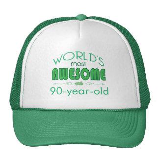 90th Birthday Celebration World's Best in Green Trucker Hats