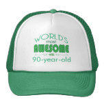 90th Birthday Celebration World's Best in Green Trucker Hats
