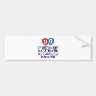 90th birthday designs bumper stickers