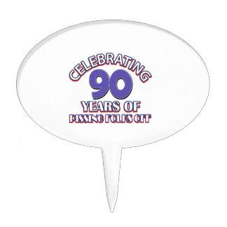 90TH birthday designs Cake Topper